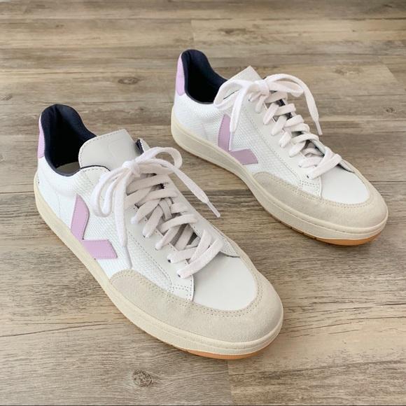 Mesh Sneakers White Lavender Lilac